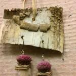 pendientes bisutería floral