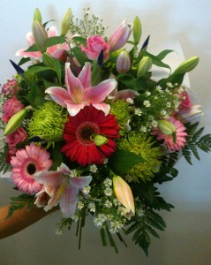 bouquet para felicitar nacimiento