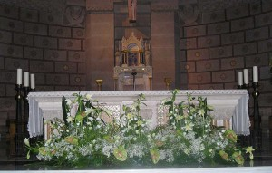 decoración de altar