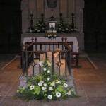 Flores para boda en capilla Barbazana
