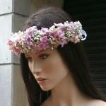 corona de flor natural