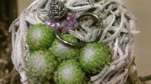 anillos de artesanía floral