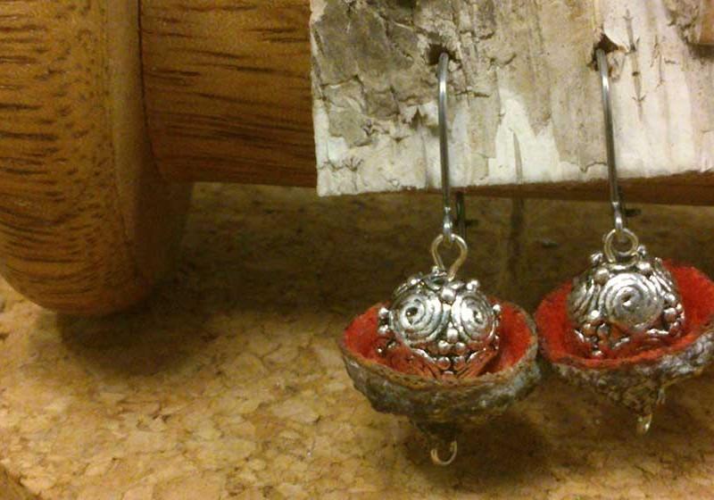 pendientes de artesanía floral