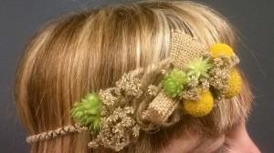 tocados y sombreros de flores