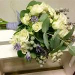 ramo de novia de lavanda